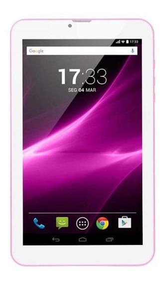 "Tablet Multilaser M9 3G 9"" 8GB rosa com memória RAM 1GB"