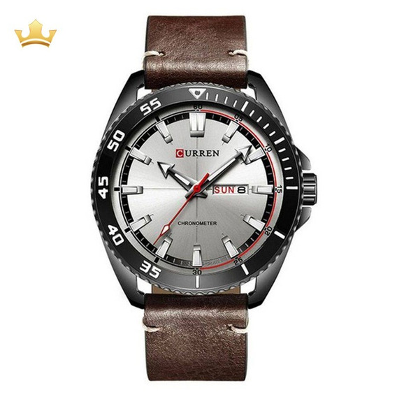 Relógio Skmei Masculino Curren 8272 - Marrom Com Nf