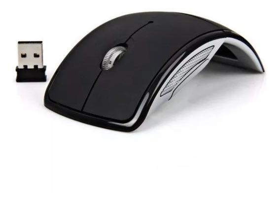 Mouse Sem Fio Wireless Óptico Usb 2.4ghz Pc Tv Mac Preto Nfe