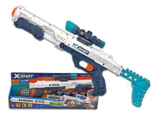 Rifle Hawkeye Con Mira Sniper Dardos Espuma 24mts Xshot