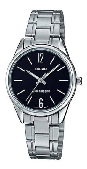 Relógio Casio Feminino Prata Pequeno Fundo Preto + Nf