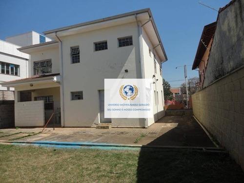 Prédio Para Alugar, 297 M² Por R$ 8.000,00/mês - Jardim Santa Genebra Ii (barão Geraldo) - Campinas/sp - Pr0025