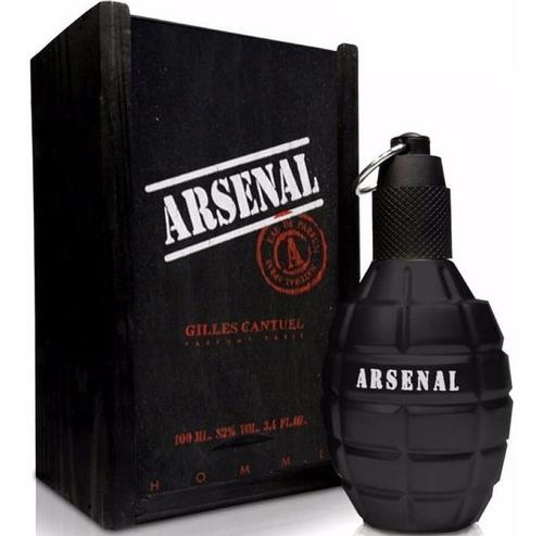Perfume Locion Arsenal Black Hombre 100% - L a $750