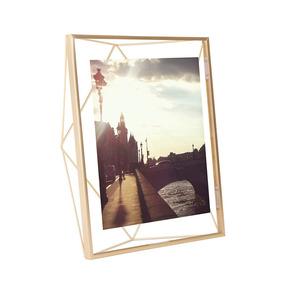 Porta Retrato Prisma 20x25 Cm Dourado Umbra Umbra
