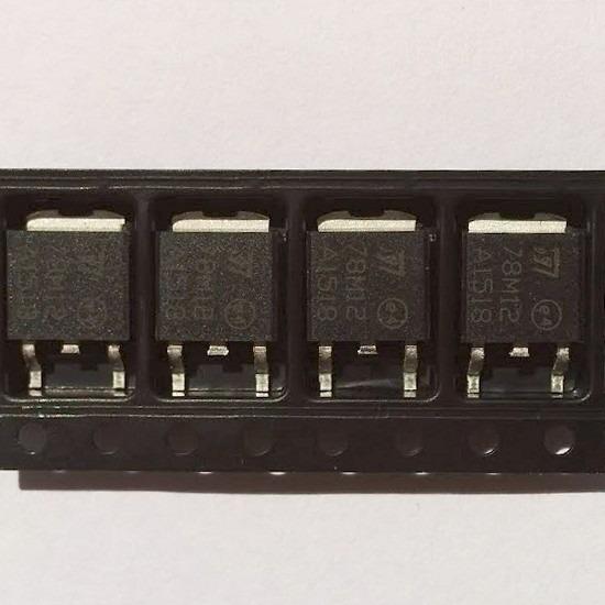 50pc Regulador De Tensão 78m12 12v 7812 Lm7812 Smd To-252