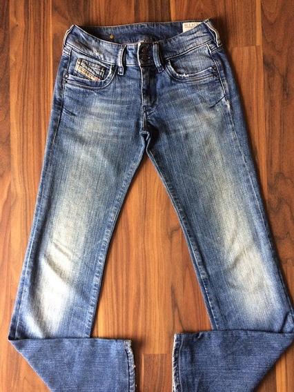 Calça Jeans Feminina Diesel 34 Azul Única Original Importada
