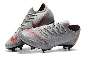 Chuteira Nike Mercurial Vapor Xll 360 Elite Sg Cinza :