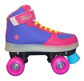 Patines Con Luces Nº 35 Lila Y Rosa Heist (1004)