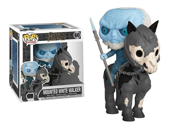 Funko Pop Game Of Thrones Mounted White Walker Figura Nueva