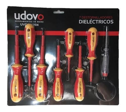 Set 7 Destornilladores Dieléctricos Udovo + Buscapolo
