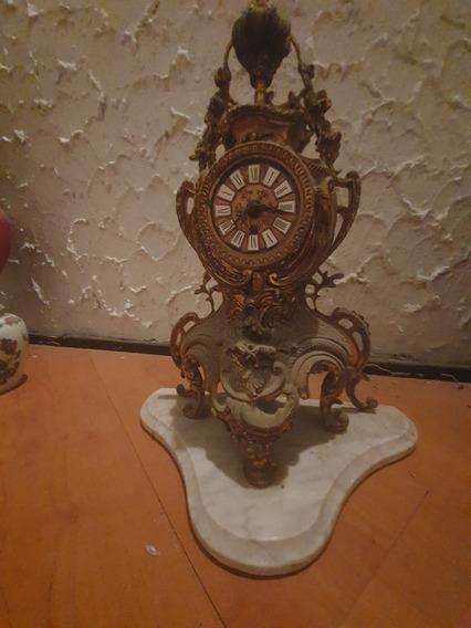 Reloj Bronce Y Marmol Vintage