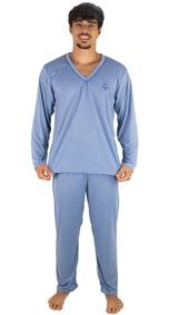 Pijama Masculino Longo Blusa Comprida E Calça Longa Adulto