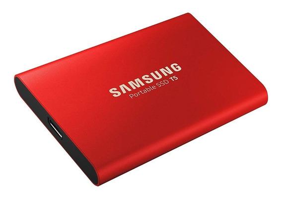 Unidad Estado Sólido Externo T5 Samsung 500gb Usb 3.1 Red