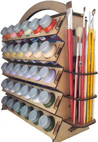 Suporte Organizador P/ Tinta De Tecido/pva Acrilex E Pinceis