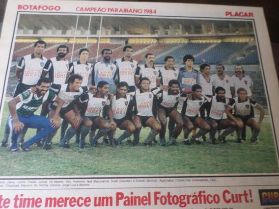 Poster Botafogo Campeão Paraíba 1984 Placar 21 X 27 Cm