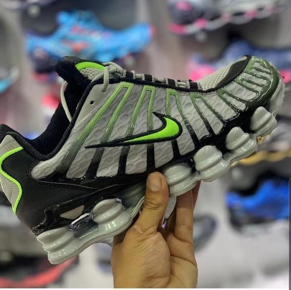 Tênis Nike Shox Tl 2019 - Cinza Com Verde