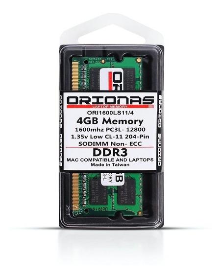 Memória 4gb Notebook - 1600mhz Ddr3l Mac Note Pc3l-12800