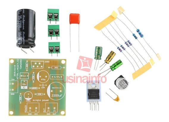 Placa Amplificador De Som Tda2050 - Mono 1 Canal 35w Diy