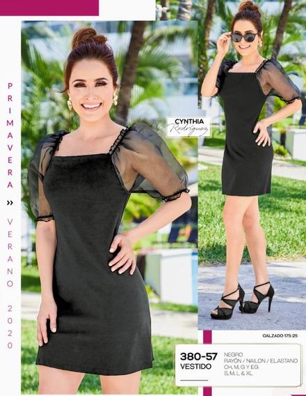 Vestido Negro 380-57 Cklass Primavera-verano 2020