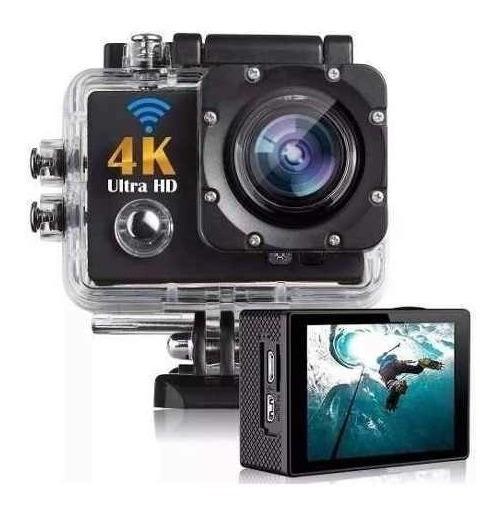Action Camera 4k Uhd É À Prova D