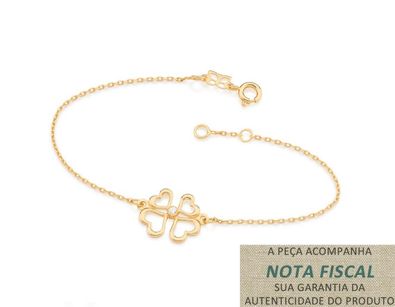 Pulseira Fio Cadeado F. Ouro Rommanel 551425