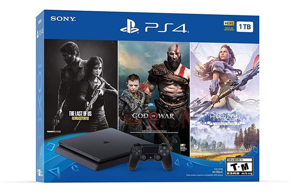Playstation 4 Slim 1tb + God Of War, Horizon, The Last Of Us