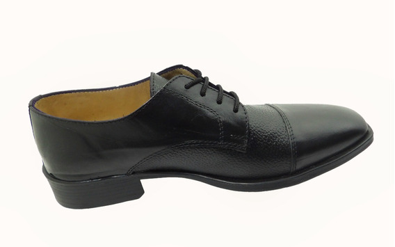 Calzado Zapato Mocasín Acordonado En Cuero. Art.197