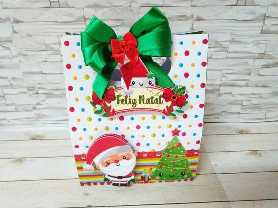 4 Kits + Arquivo Digital De Corte Silhouette Sacola Natal 86