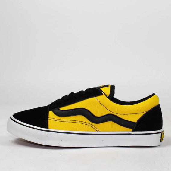 Tênis Skate Mad Rats Old School Amarelo/preto Original