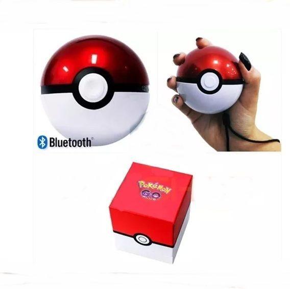 Caixa Caixinha D Som Bluetooth / Usb / Tf / Pokemon Pokebola