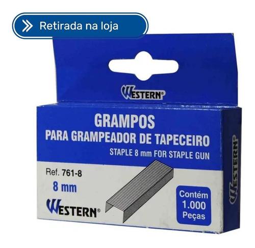 Imagem 1 de 2 de Grampo Grampeador De Tapeceiro 8mm Western 761-8
