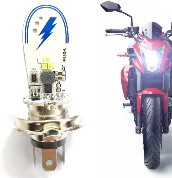 Lâmpada Led H4 Efeito Xenon Para Motos Corrente Alternada