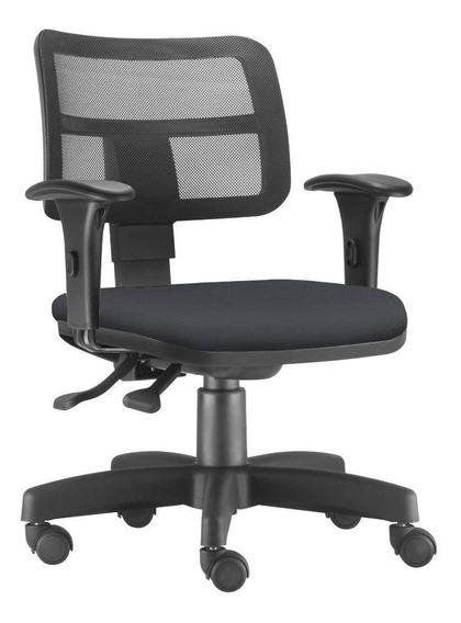 Cadeira Giratória Zip Executiva Escritório Suede Preto