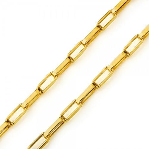 Corrente Cordao Oca Alongada 60cm Masculino Ouro 18k Cartier