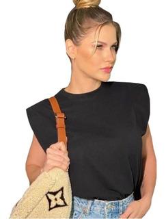 Blusa Feminina Modelo T-shirt Ombreira Tee Muscle Blogueira
