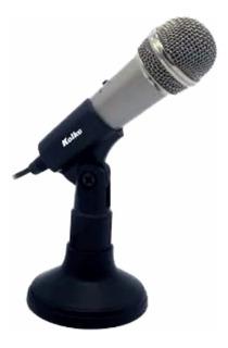 Microfono Con Pedestal Kolke Kpi-049 3,5mm 6,5 Pc Conf.