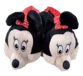 Pantufas Minie E Mickey Personagens Promoção Inverno Quente