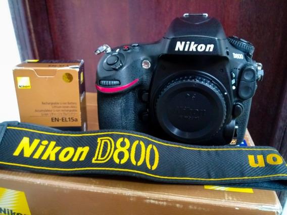 Câmera Nikon D800 36.3mpx Perfeita! 42k Apenas! Nd750/610