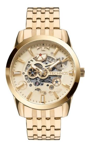 Relógio Technos Masculino Dourado Automático 8205nq/4x