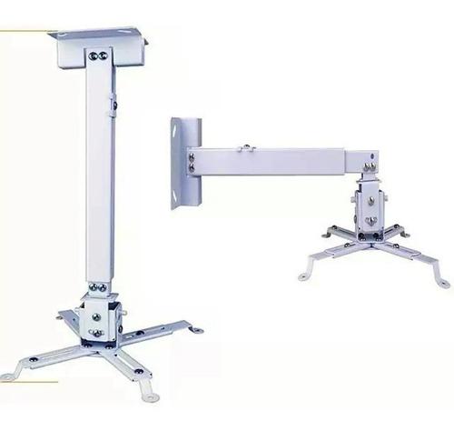 Imagen 1 de 4 de Soporte Proyector Universal Cañón Ajustable 10kg Techo Pared