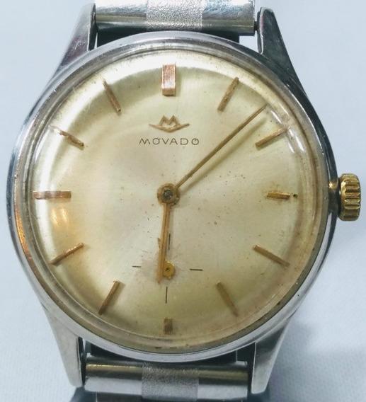 Antigo Relógio De Pulso Suíço Movado, A Corda, Diametro 45mm