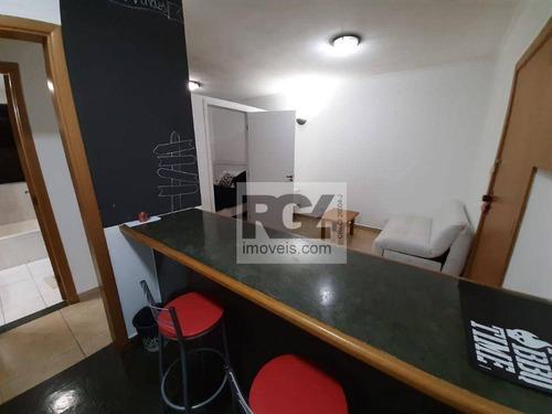Imagem 1 de 10 de Flat Com 1 Dormitório Para Alugar, 36 M² Por R$ 2.300,00/mês - Centro - São Vicente/sp - Fl0050