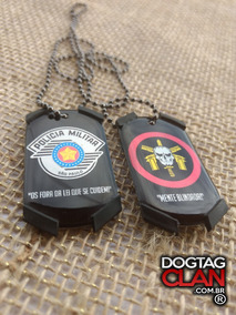 Dog Tag Militar Cordão Militar Gravado Com Seus Dados