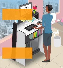 Mesa Para Computador/escrivaninha Office Stand Up Desk