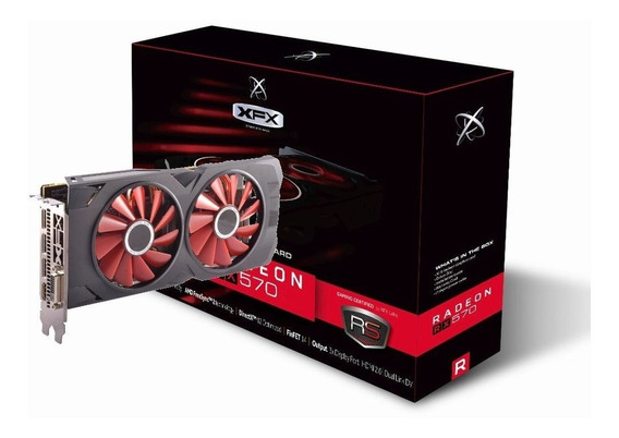 Placa De Vídeo Radeon Xfx Rx 570 8gb Rs Xxx 256bits Dual Fan