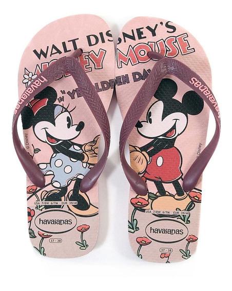 Ojotas Disney Mickey Minnie Havaianas Originales Mundomanias