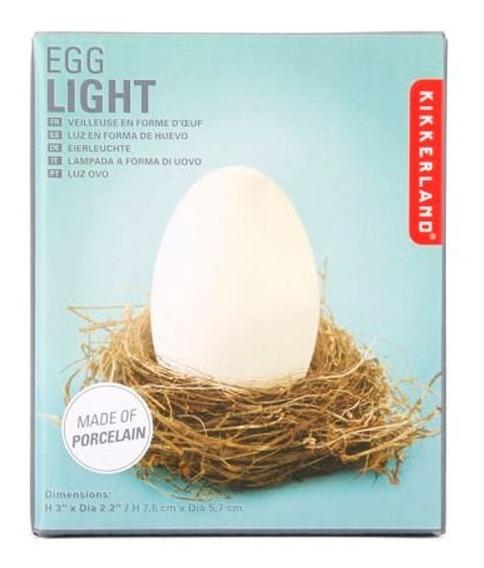Lámpara De Buro Efecto Luz Led Diseño Huevo Lt16 Kikkerland