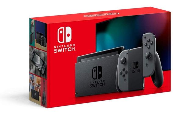 Nintendo Switch 32gb Novo Modelo Gray Lacrado De Fábrica