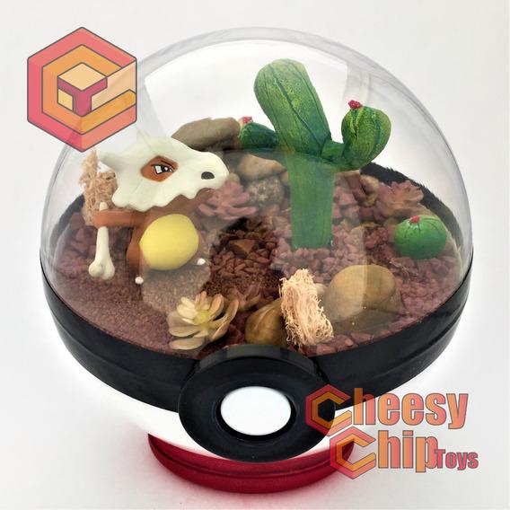 Pokemon Pokeball Terrarium Cubone Cactus - Pokebola De 12cm.