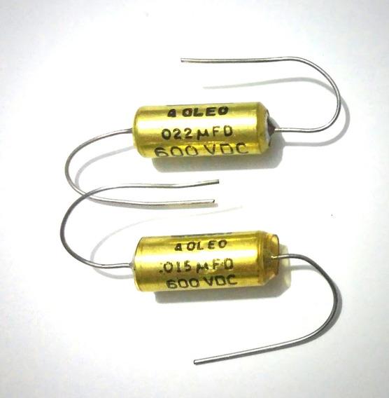 Capacitores A Óleo Pio 0,015uf E 0,020uf - Woman Tone - Nos